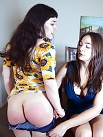 Joelle Barros Learns a Spanking Lesson